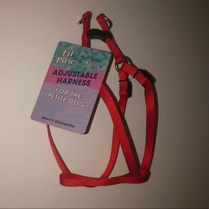 Small Dog Puppy Harness NWT Red